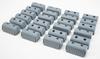 "Caliber Bunk End Caps 2X4"" Grey 24/Pk - 23072"