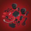 BIG BIKE PARTS SOUND SYSTEM (BLACK) (13-250BK)