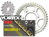 RK Vortex Gold O-Ring Stl OE Chain and Sprocket Kit ZX900C 98-01 / E ZX-9R 98-01