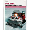 Clymer S832 Service Shop Repair Manual Polaris Snowmobile 84-89