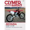 Clymer M437 Service Shop Repair Manual Honda CR250 1997-2001