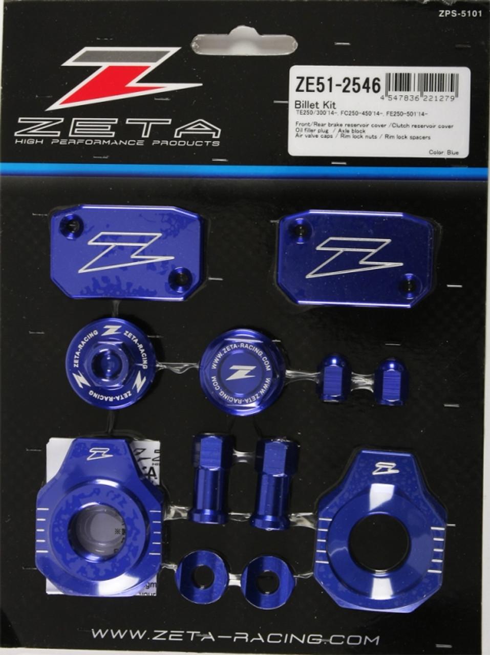 Zeta Billet Kit Blue Anodized Aluminum Husqvarna ZE51-2546