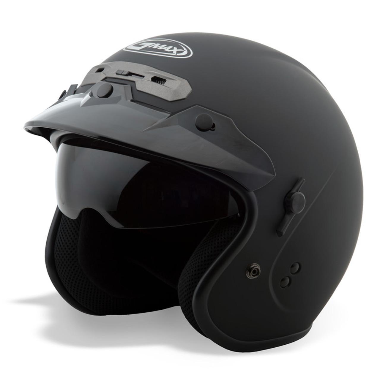 Gmax GM-32 Open Face Helmet Solid Matte Black