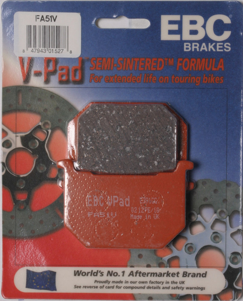 Ebc Brake Pads >> Ebc Brake Pads Fa51v Speed Addicts