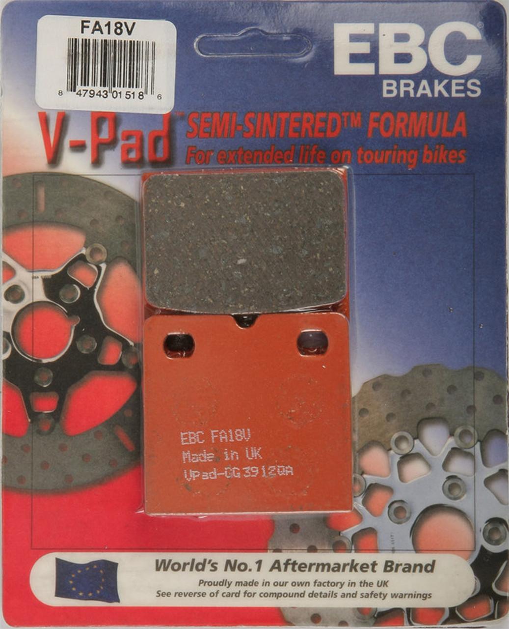 EBC FA199V Touring Bike Semi-Sintered V Brake Pads