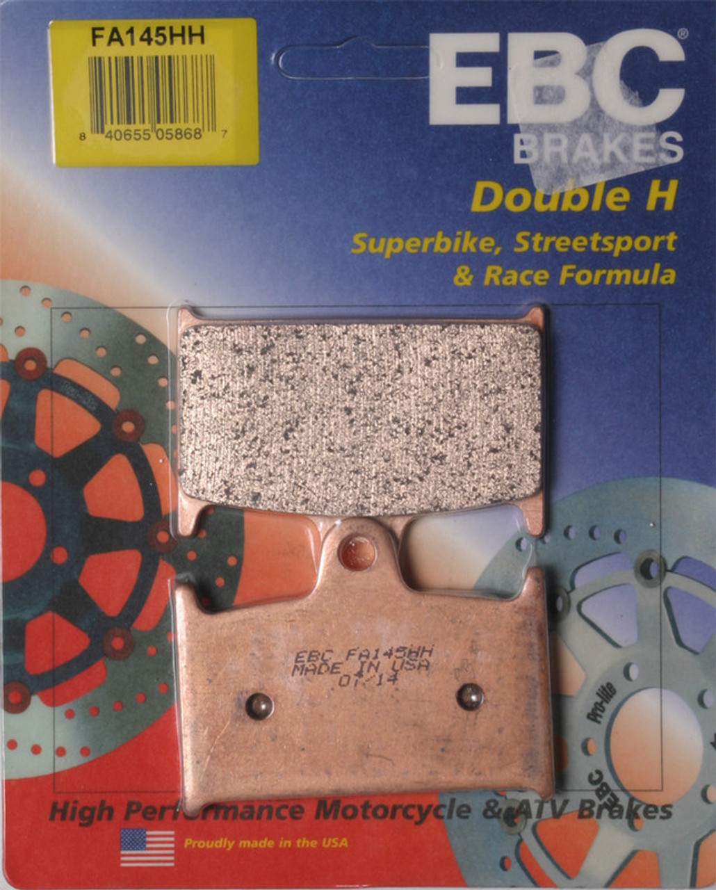 Double-H Sintered Brake Pads FA145HH EBC