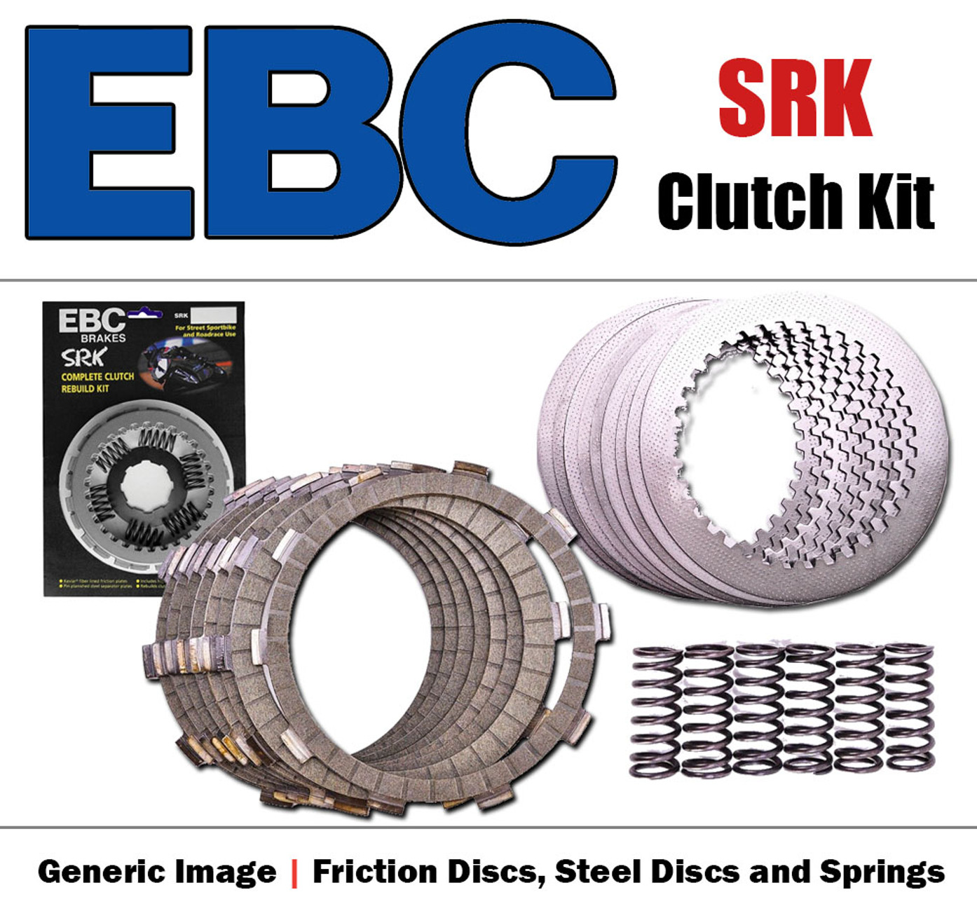 EBC Brakes SRK7 SRK Clutch with Steel Separator Plates and Springs