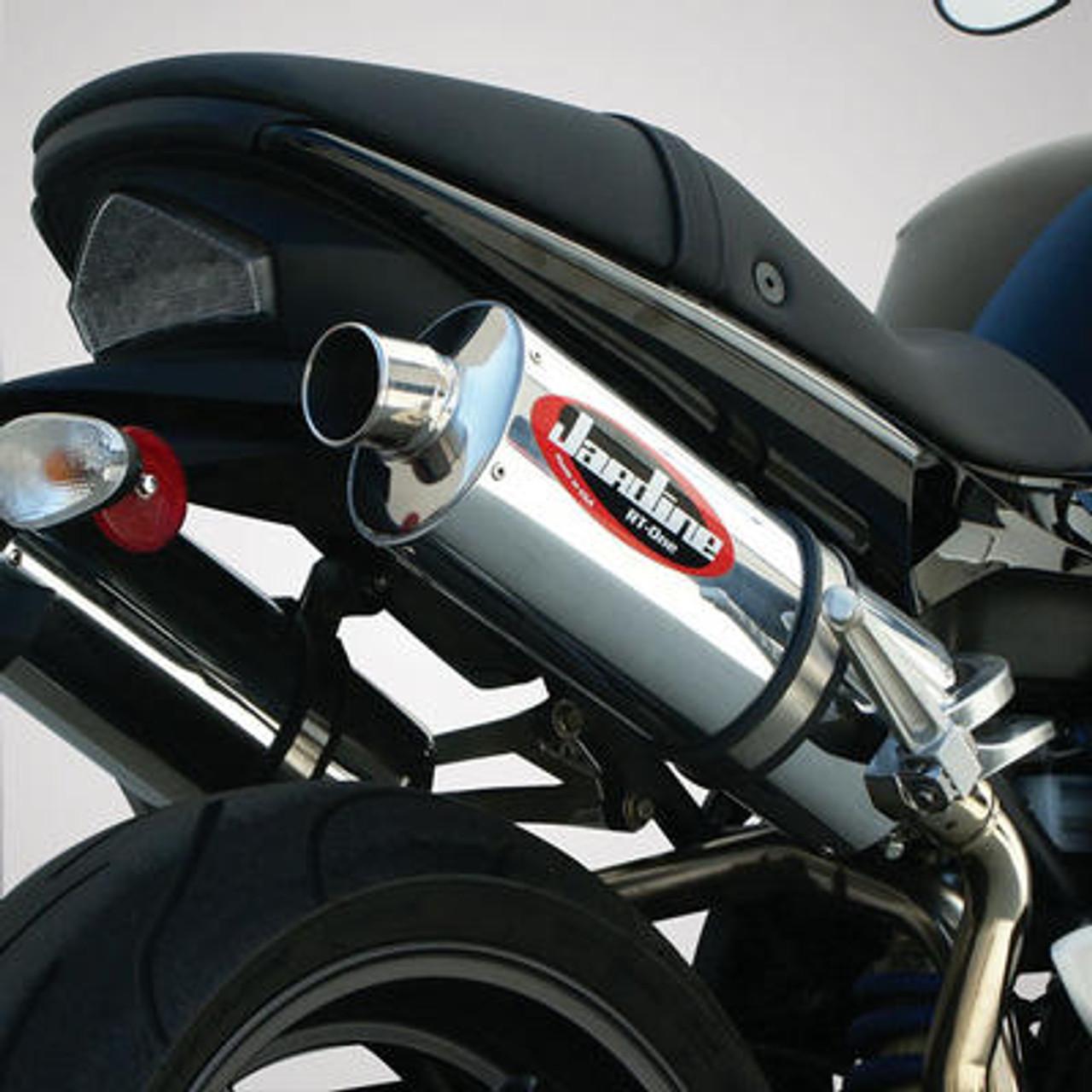 Jardine Rt1 Carbon Fiber Slip On Exhaust Pipe Muffler Triumph Speed