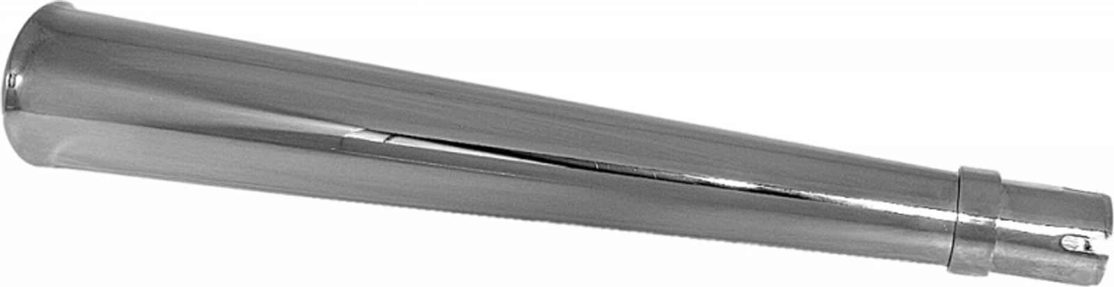 "Chrome 24/"" Universal Widemouth Megaphone Style Muffler 80-84013"