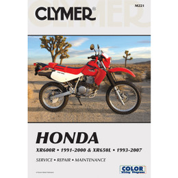 Clymer M221 Service Shop Repair Manual Honda XR600R 1991-2000 / XR650L 1993-2007