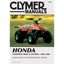 Clymer M347 Service Shop Repair Manual Honda 4trax 200SX/ATC200X 86-88
