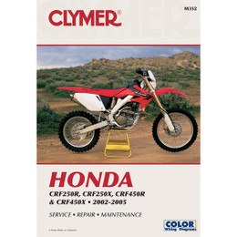Clymer M352 Service Shop Repair Manual Hon CRF250R / CRF250X 04 / CRF450R 02-04