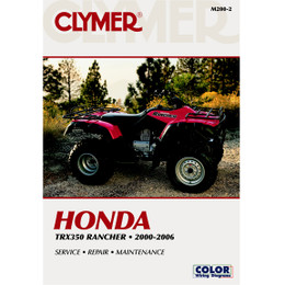 Clymer M200-2 Service Shop Repair Manual Honda TRX350 Rancher 00-06