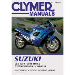 Clymer M478-2 Service Shop Repair Manual Suzuki GSXR750/GSX750F Katn 88-96