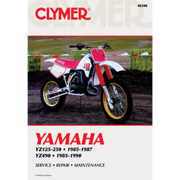 Clymer M390 Service Shop Repair Manual Yamaha YZ125-490 85-90