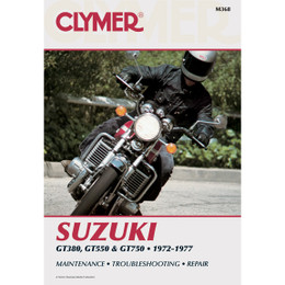 Clymer M368 Service Shop Repair Manual Suzuki 380-750cc Triples 72-77