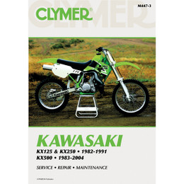 Clymer M447-3 Service Shop Repair Manual Kaw KX125 / KX250 82-91 / KX500 83-04