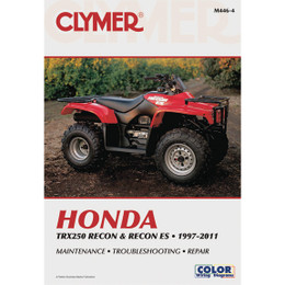 Clymer M446-4 Service Shop Repair Manual Honda TRX250 Recon / Recon ES 1997-2011