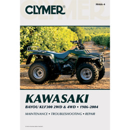 Clymer M466-4 Service Shop Repair Manual Kawasaki Bayou KLF300 2WD / 4WD