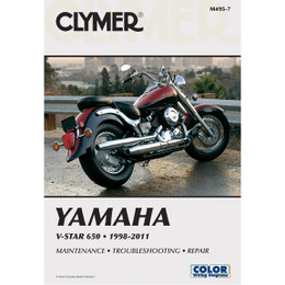 Clymer M495-7 Service Shop Repair Manual Yamaha V-Star 650 1998-2011