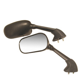 EMGO OEM Replacement Mirror for Yamaha YZF R1 02-03 Right Side Black (20-80531)