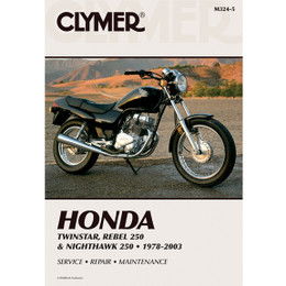 Clymer M324-5 Service Shop Repair Manual Twinstar / Rebel / Nighthawk 250 78-03