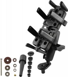 Ram Fork Stem Mount W/Finger Grip Phone/Radio Holder - RAM-B-176-UN4