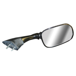 EMGO OEM Replacement Mirror for 03-05 Yamaha FJR1300 Left Side Carbon (20-80524)