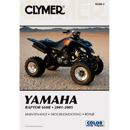 Clymer M280-2 Service Shop Repair Manual Yamaha Raptor 660R 2001-2005