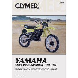 Clymer M413 Service Shop Repair Manual Yamaha YZ100-490 Monoshock 76-84