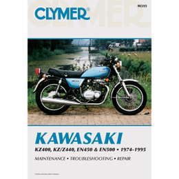 Clymer M355 Service Shop Repair Manual Kawasaki KZ400/Z440 EN450/500 74-95