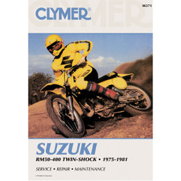Clymer M371 Service Shop Repair Manual Suzuki RM50-400 Twin-Shock 75-81