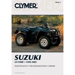 Clymer M343-2 Service Shop Repair Manual Suzuki LT-F500F 1998-2002