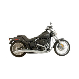 Supertrapp Low Roller 2:1 Full Exhaust System HD FXST 86-11 Chrome