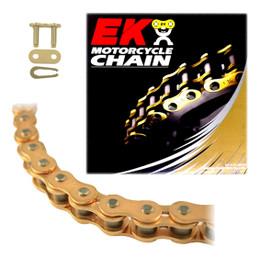 EK 520MRD7 Heavy Duty Gold MX Motorcycle Chain (Clip Master)