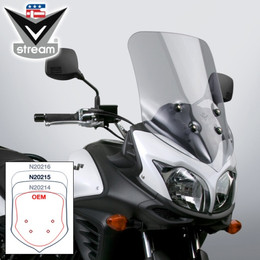National Cycle Vstream Sport-Touring Windscreen (Light Tint) - N20215