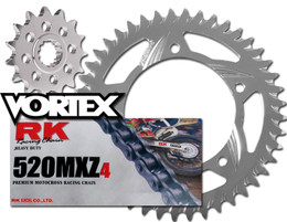 RK Vortex Blk MX Alu QA Chain and Sprocket Kit for KAW KX125 04-05