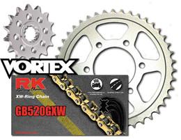 Rk Vortex Gold Silv Steel QA Chain and Sprocket Kit for SUZ GSX-R1000 09 11-12