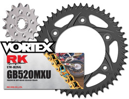 RK Vortex Gld O-Ring Blk QA Chain and Sprocket Kit for SUZ RM-Z250 07-09