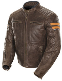 Joe Rocket Classic '92 Jacket Brown / Orange Mens