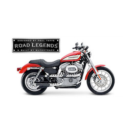 Supertrapp Road Legend X-Pipe Exhaust for HD SPORTSTER 04-06 Black 3SHLD