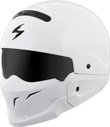 Scorpion Covert Open-Face Solid Helmet Gloss White