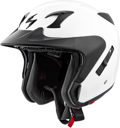 Scorpion Exo-Ct220 Open-Face Solid Helmet White
