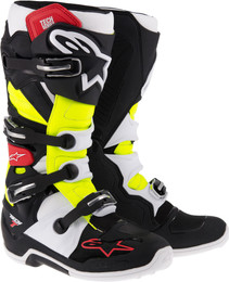 Alpinestars Tech 7 Boots Black Red Yellow