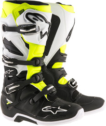 Alpinestars Tech 7 Boots Black White Yellow