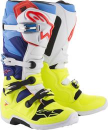Alpinestars Tech 7 Boots Yellow White Blue