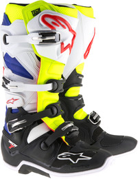 Alpinestars Tech 7 Boots White Yellow Blue