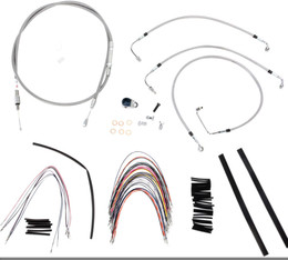 """Burly Control Cable Kit Stainless 14"""" Bars (B30-1091)"""