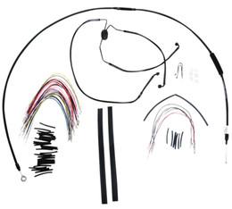 "Burly Control Cable Kit Black 16"" Bars (B30-1101)"