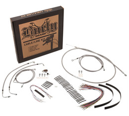 """Burly Control Cable Kit Stainless 14"""" Bars (B30-1127)"""